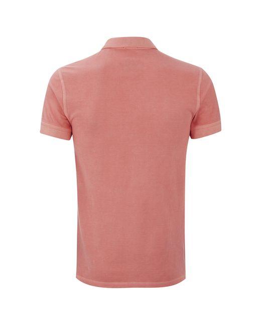 Boss orange men 39 s pascha polo shirt in pink for men for Orange polo shirt mens