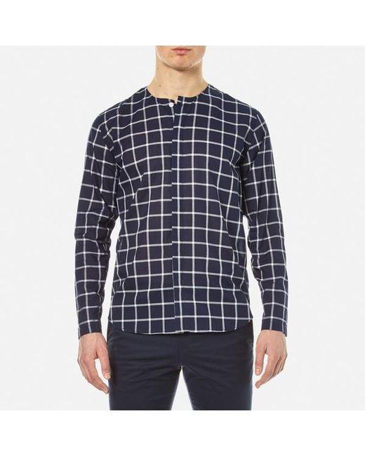 Folk | Blue Men's Collarless Shirt for Men | Lyst