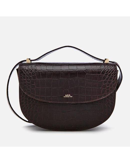 A P C Black Women S Geneve Shoulder Bag