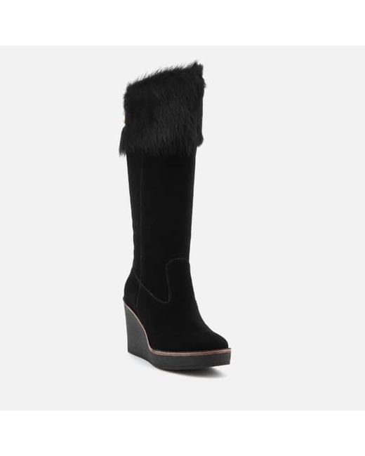 Cheap Largest Supplier Deals Sale Online UGG Women's Valberg Sheepskin Cuff Suede Thigh High Boots Outlet 2018 New V1RPzV1yid