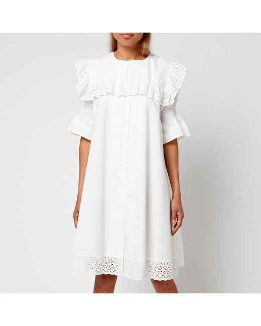 Résumé White Drew Dress