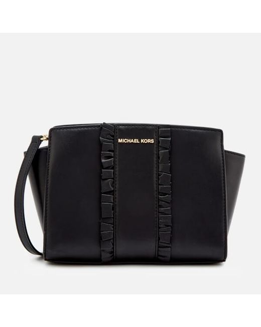 MICHAEL Michael Kors - Black Women's Selma Medium Messenger Bag - Lyst