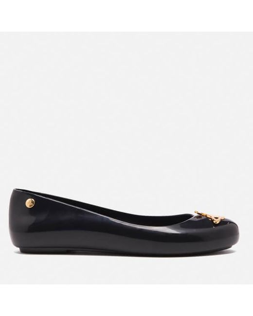 Melissa + Vivienne Westwood Anglomania | Black Women's Space Love Ballet Flats | Lyst
