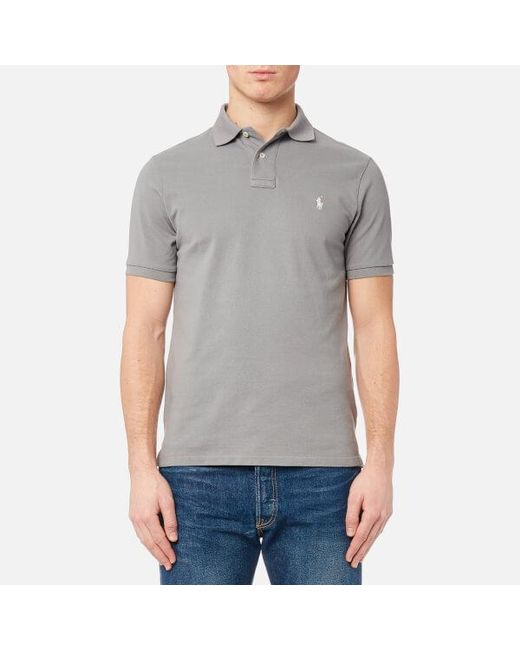 Polo Ralph Lauren - Gray Weathered Mesh Slim Fit Polo Shirt for Men - Lyst