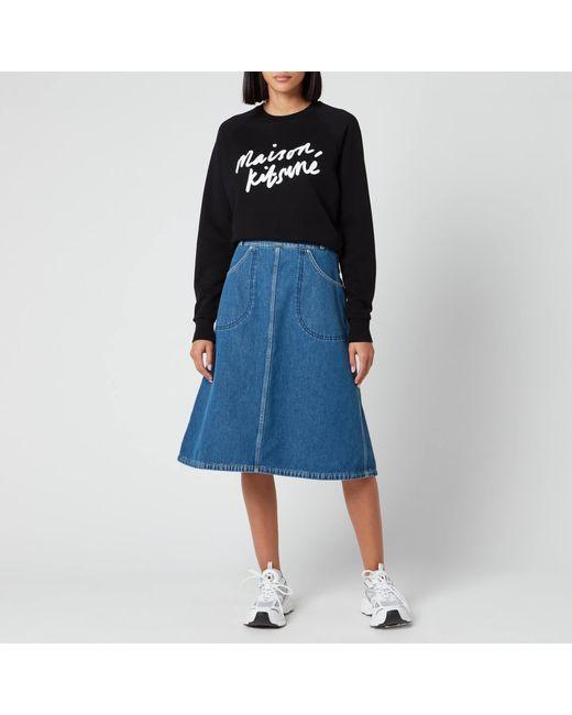 Maison Kitsuné Black Sweatshirt Handwriting