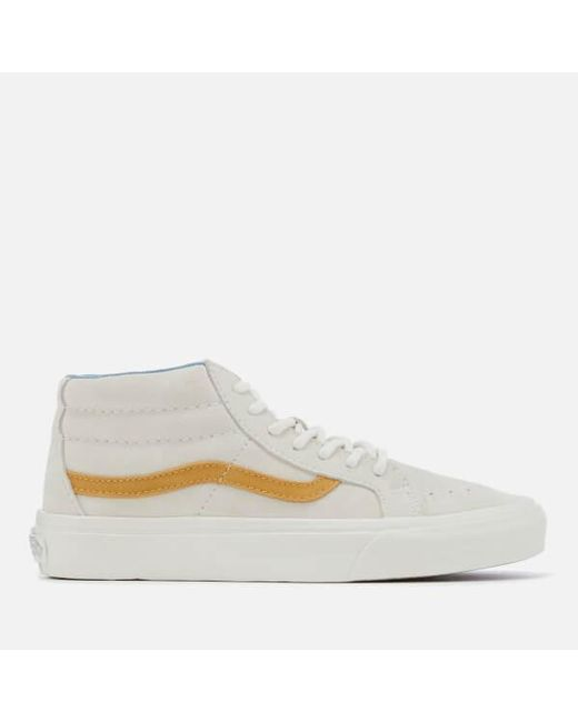 9dd43b4bc1 Vans Sk8-mid Reissue Suede in White for Men - Save 45% - Lyst