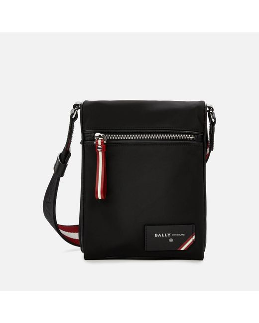 Bally Black Finched Cross Body Bag for men