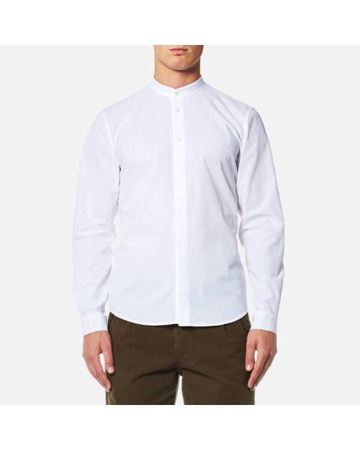 Folk | White Men's Grandad Shirt for Men | Lyst