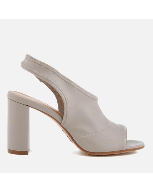 b811c5f0d1e0 MM6 by Maison Martin Margiela - Gray Women s Sling Back Heeled Sandals -  Lyst ...