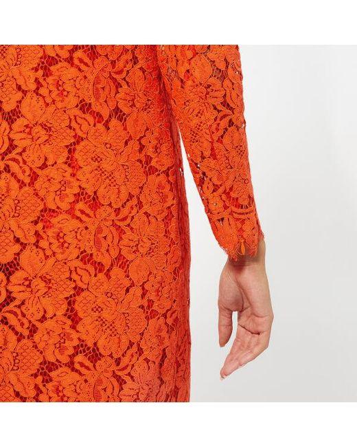 23634a1d69e ... Ganni - Red Women s Jerome Lace Dress - Lyst