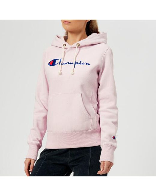 0d38c6f6f3c7 Champion Women s Hooded Sweatshirt in Purple - Lyst