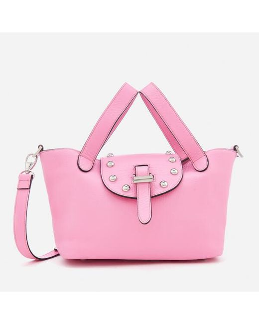 Lyst - meli melo Women s Thela Mini Tote Bag With Studs in Pink bd3ee7ef9b