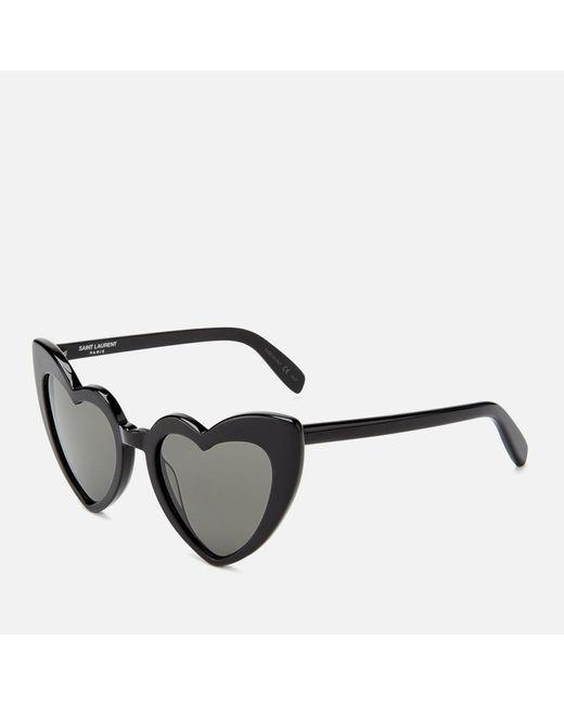 Saint Laurent Women's Loulou Heart Shaped Sunglasses