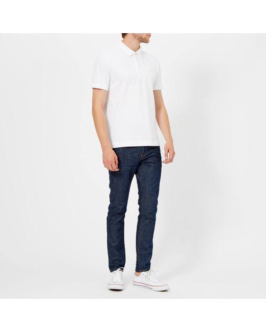 0f402ba4 ... Lacoste - White Short Sleeve Paris Polo Shirt for Men - Lyst ...