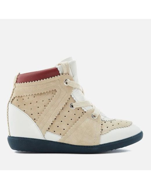 4011615731a Isabel Marant - White Women s Betty Wedged Hitop Trainers - Lyst ...