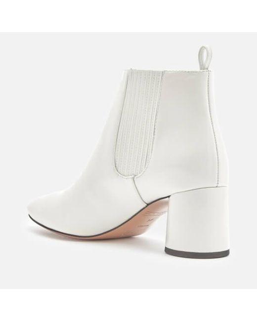 Marc Jacobs White Patent Rocket Chelsea Boots