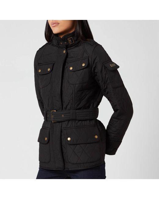 Barbour Black Ladies International Wax Jacket