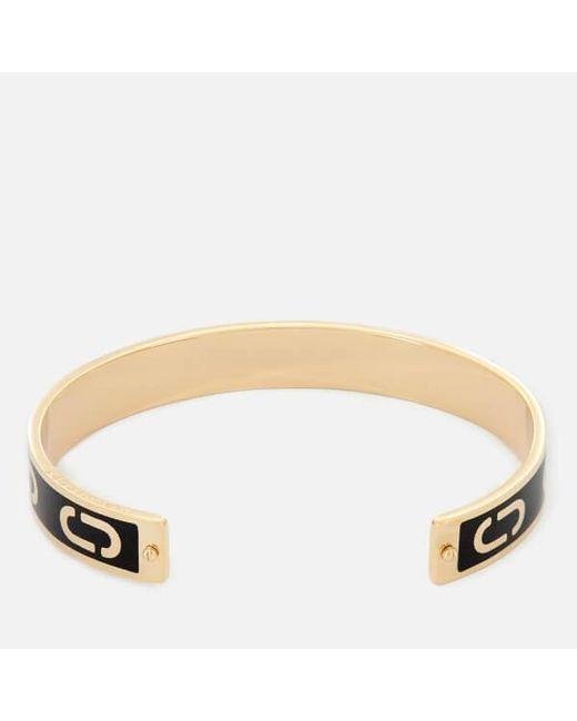 Marc Jacobs | Black Women's Double J Enamel Cuff Bracelet | Lyst