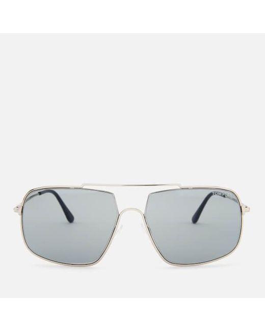 8b2c8cba1d5 Tom Ford - Multicolor Men s Aiden Aviator Style Sunglasses for Men - Lyst  ...