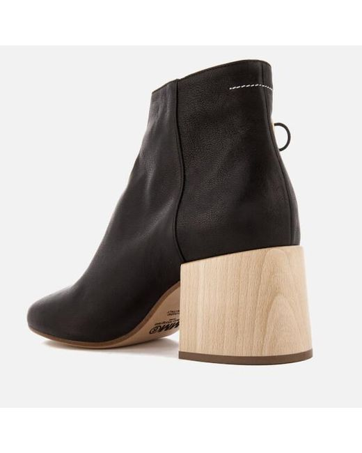 buy cheap looking for outlet locations MM6 Maison Margiela MM6 by Maison Martin Margiela Leather Cutout Ankle Boots w/ Tags ymnUZYVVwx