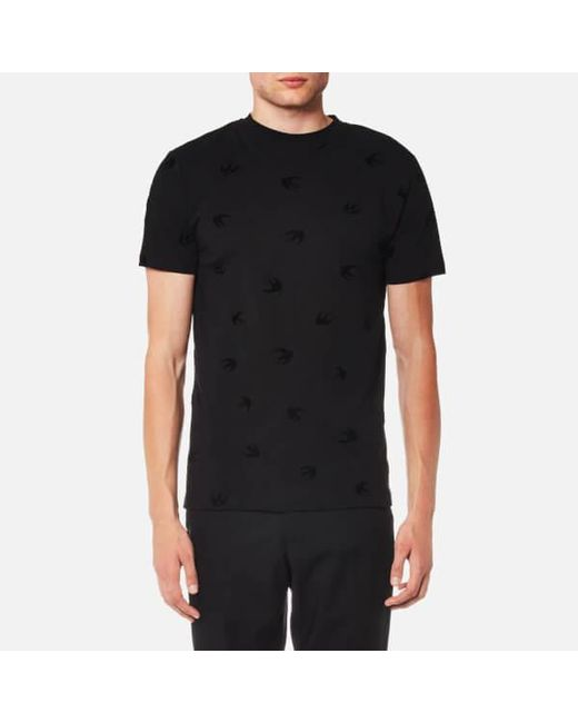 8785d0ff2b75 McQ Alexander McQueen - Black Men s Swallow Tshirt for Men ...