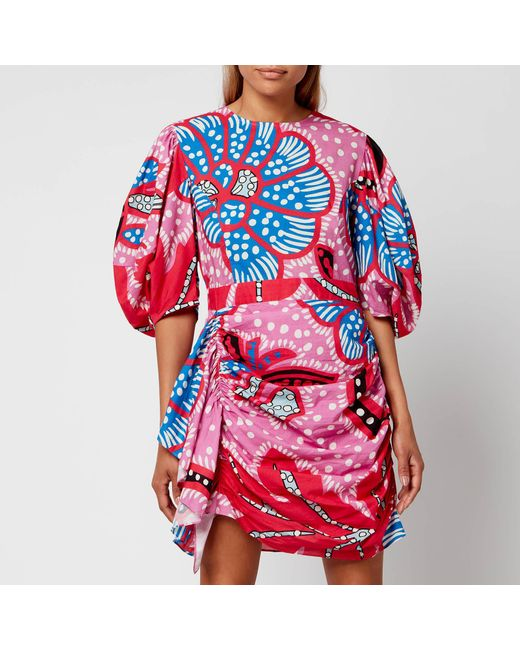 RHODE Red Pia Dress