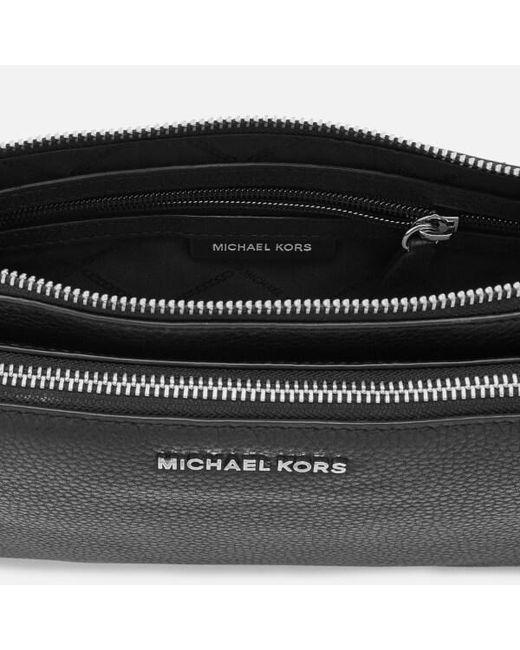 ed66c76c723796 ... MICHAEL Michael Kors - Black Women's Adele Double Zip Cross Body Bag -  Lyst