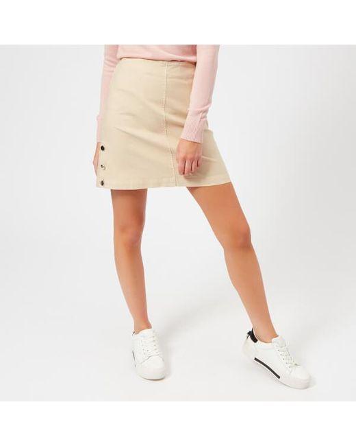 Maison Kitsuné - Natural Women's Overdyed Emma Studded Skirt - Lyst