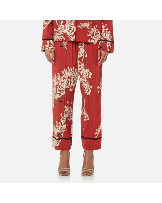 McQ Alexander McQueen - Red Women's Piping Pin Track Trousers - Lyst