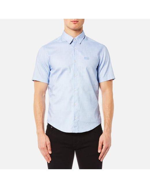 BOSS Green | Blue Men's Busterino Shirt for Men | Lyst