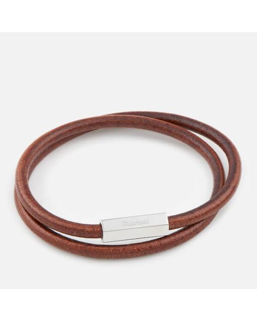 Miansai - Brown Men's Bare Wrap Bracelet for Men - Lyst