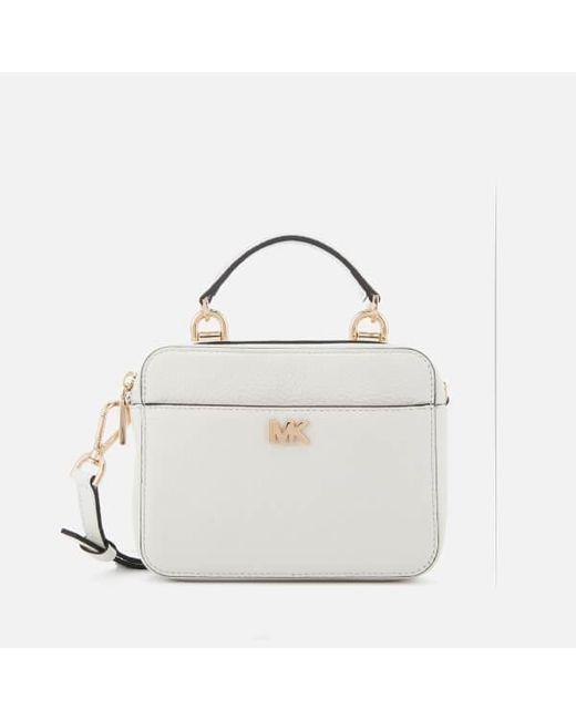 Michael Kors White Women S Mini Guitar Strap Cross Body Bag