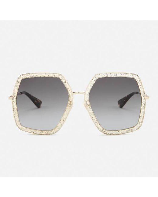 050fc736e1 Gucci - Metallic Women s Metal Square Frame Sunglasses - Lyst ...