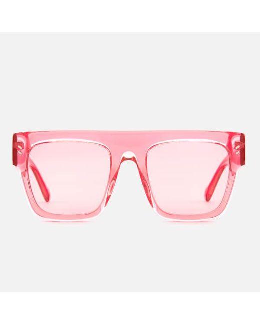 d9a48190ce Stella McCartney - Pink Women s Square Frame Acetate Sunglasses - Lyst ...