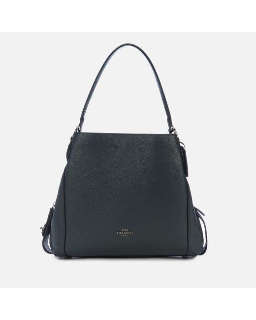 787bf6933950d COACH - Black Women's Polished Pebble Leather Edie 31 Shoulder Bag - Lyst  ...