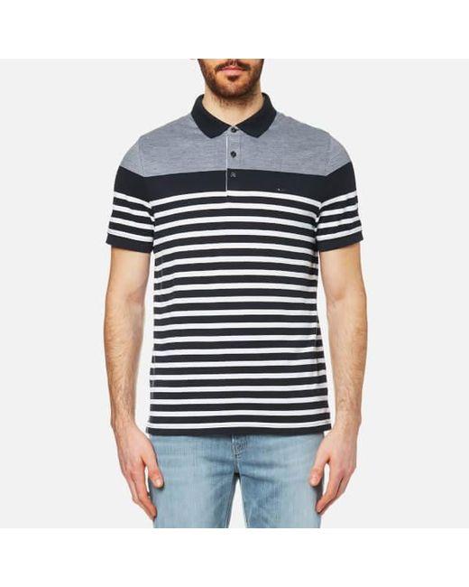 Michael Kors | Blue Men's Engineer Stripe Polo Shirt for Men | Lyst