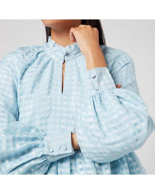 Stine Goya Blue Jasmine Tiered Mini Dress
