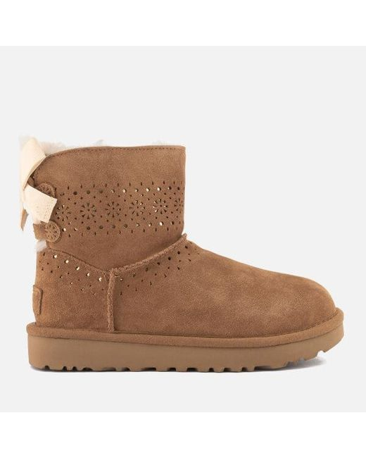 Ugg - Brown Women's Dae Sunshine Perf Suede Sheepskin Boots - Lyst