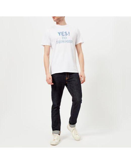c1a1934a5575 ... Lyst A.P.C. - White Men s Tshirt Yes To Summer H for Men ...