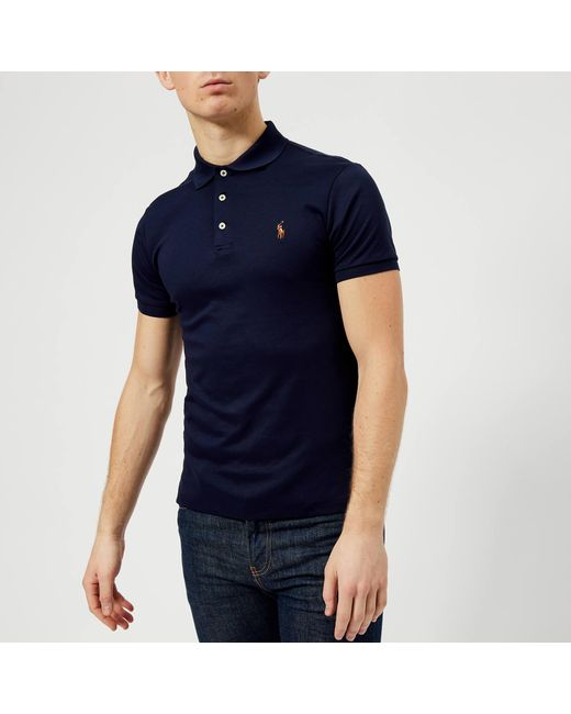 e2d3aa3d Polo Ralph Lauren Slim Fit Pima Polo Shirt in Blue for Men - Save 49 ...