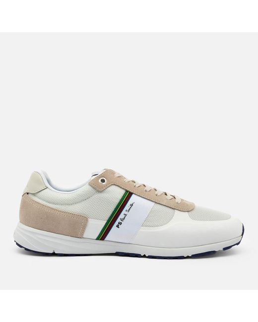 PS by Paul Smith White Huey Running Style Trainers for men
