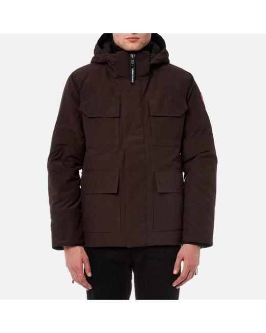 Canada Goose - Brown Men's Maitland Parka Jacket for Men ...