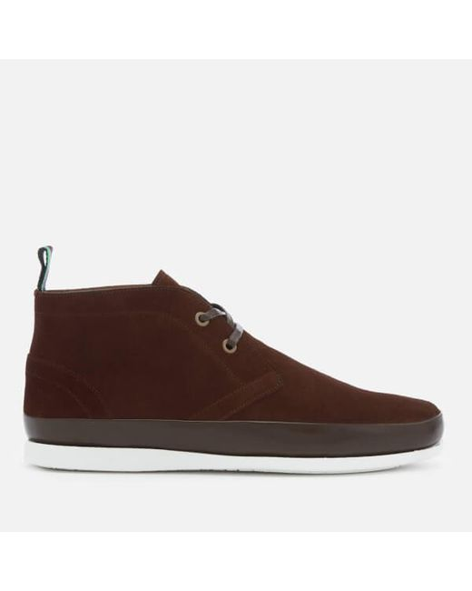c72ba4466aa PS by Paul Smith - Brown Men s Cleon Suede Chukka Boots for Men - Lyst ...