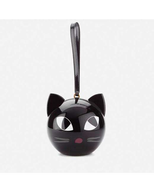 Lulu Guinness | Black Women's Kooky Cat Perspex Orb Clutch | Lyst