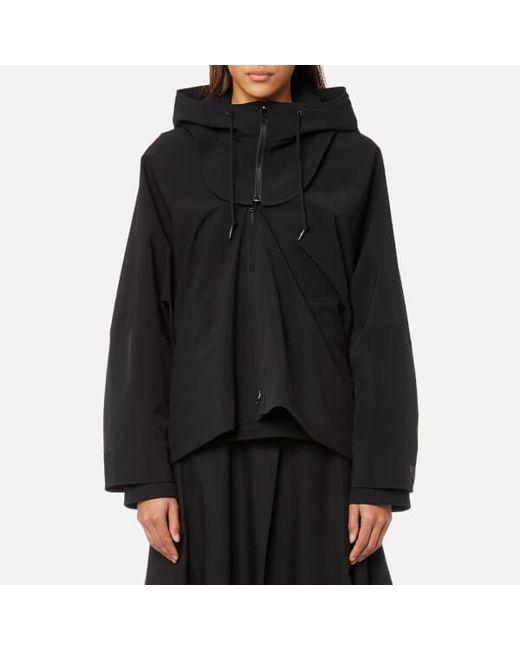 y 3 y3 women s 2 layer hooded jacket in black lyst