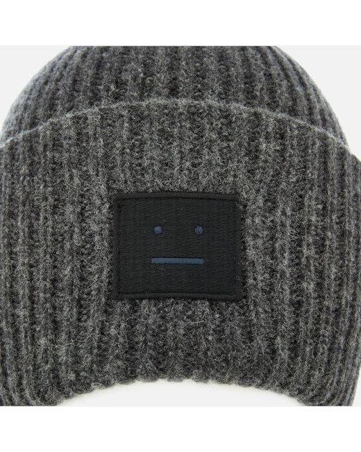 ... Acne - Gray Men s Pansy L Face Beanie Hat for Men - Lyst 11b0de9b1fe1