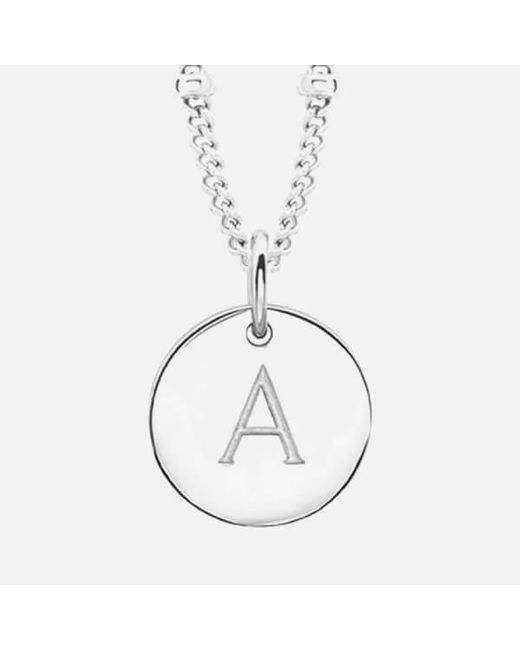 Missoma | Metallic Women's Initial Charm Necklace A | Lyst