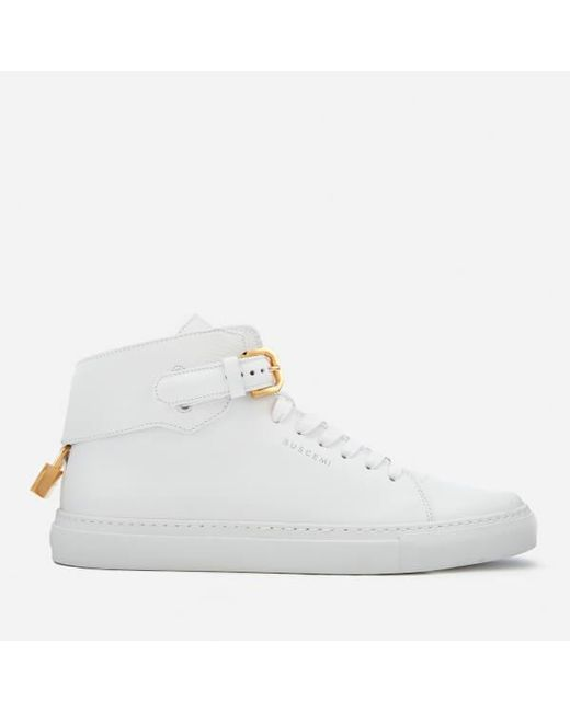 Buscemi - White Men's 100mm Buckle High Top Trainers for Men - Lyst