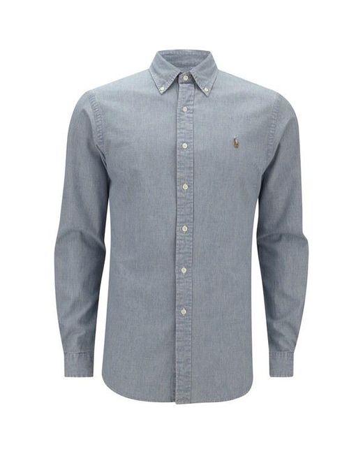 Polo Ralph Lauren - Blue Men's Long Sleeve Denim Shirt for Men - Lyst