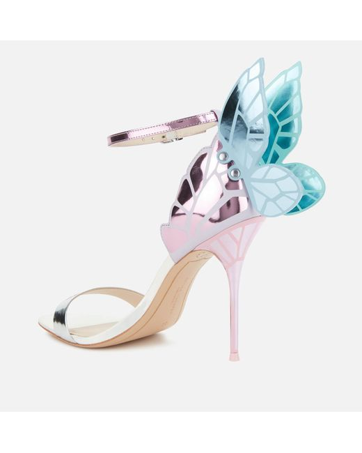 Sophia Webster Pink Chiara Barely There Heeled Sandals